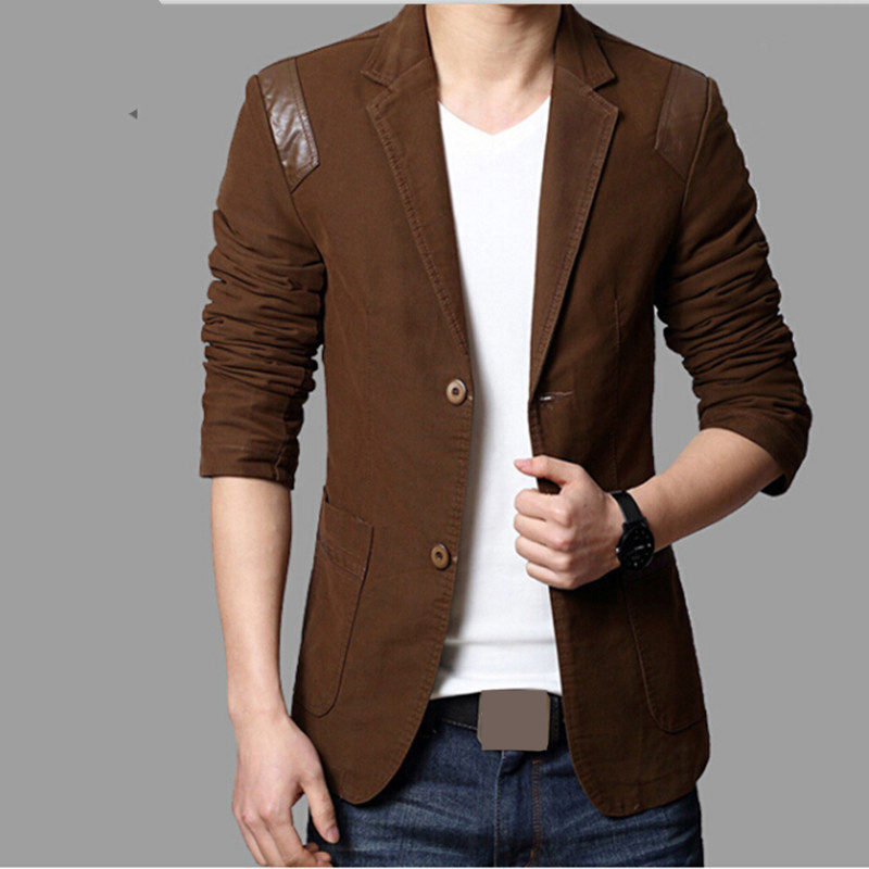 MRMT 2019 Brand Spring Autumn New Men's Suits Cotton Overcoat For Male Casual Leather Suits Outside Wear Clothing Garment