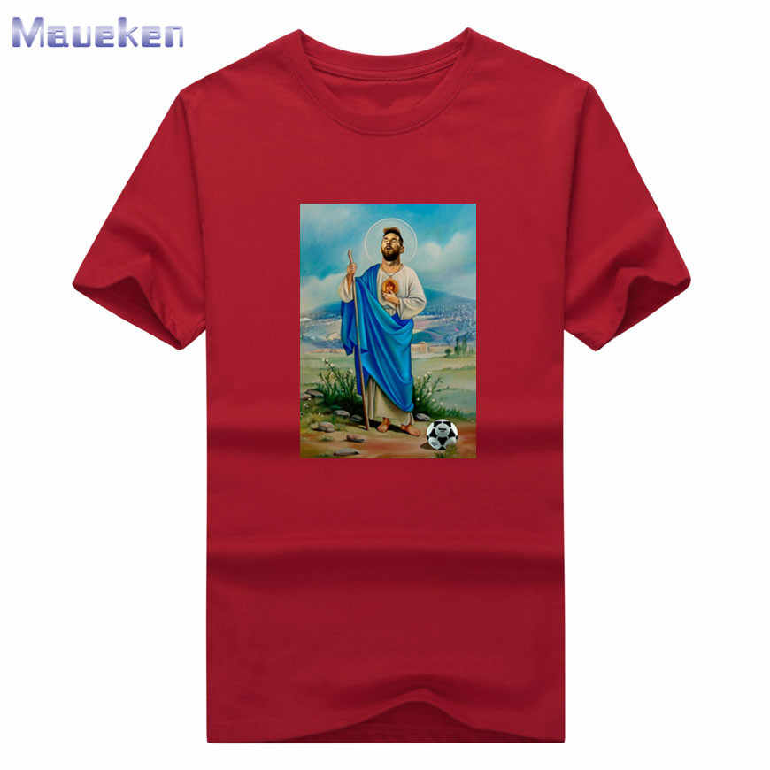 9705c4c8 ... 2018 Lionel Messi new god fashion T-Shirt Men Short Sleeve O Neck T  shirts ...