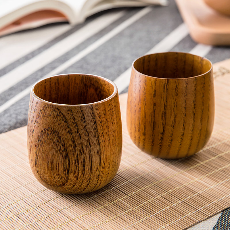 Japanese style wooden tea <font><b>cup</b></font> insulation of large capacity drinking <font><b>cup</b></font> summer wood <font><b>cup</b></font> water for kids anti <font><b>broken</b></font> and hot