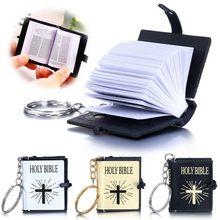 2021 Mini Engels Bijbel Sleutelhanger Religieuze Christian Jesus Cross Sleutelhangers Vrouwen Tas Gift Souvenirs Dropship Hot Koop
