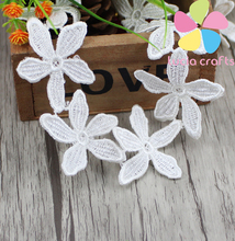 Lucia crafts 1yard/lot Handmade Lace Trim Patchwork Material White Lace Ribbon DIY Garment Sewing Accessories 050025035