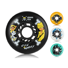 Japy Skate City Monkey Skate Wheels 85A Slalom/Braking Roller Skate Shoes Wheels SEBA Skates Wheels High Quality Roller Wheels f1 seba