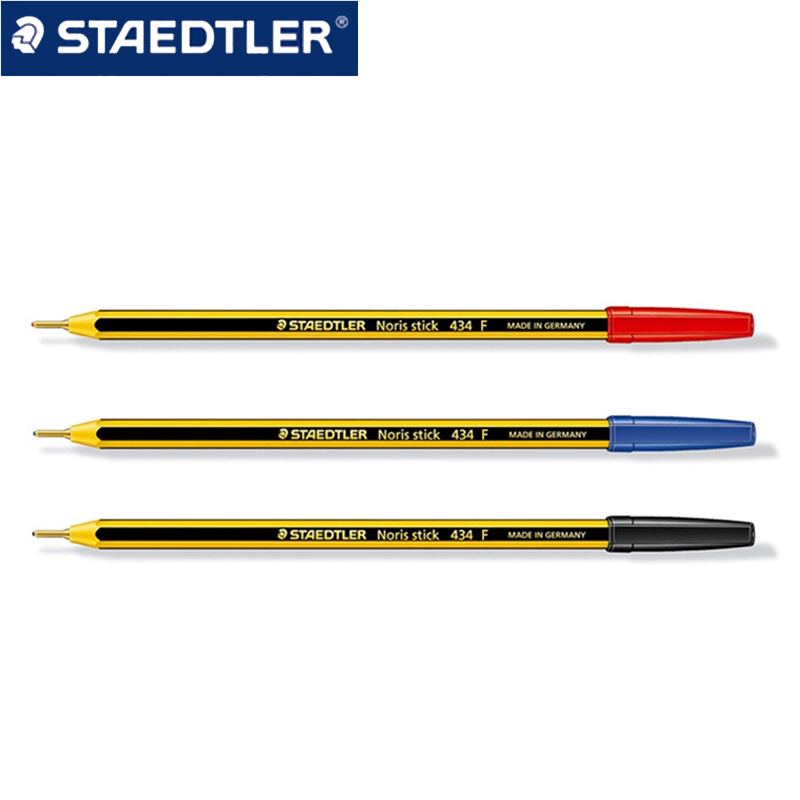 12 pcs STAEDTLER 434F Ballpoint Pens Colored Pen Oil Ink Pens School Stationery Office Supplies Ballpoint Writing Pen 0.5mm