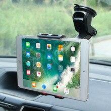 Автомобильный держатель для планшета samsung, huawei, IPAD pro, air mini 1234, gps, телефона, Регулируемая на 360 градусов, подставка на присоске для мобильного телефона