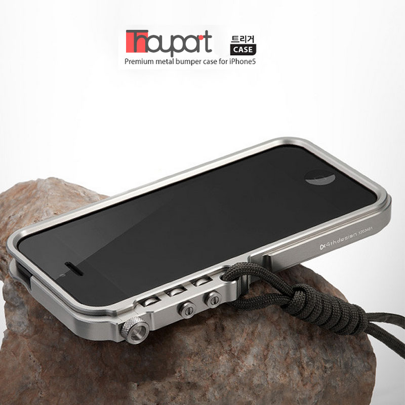 imágenes para Para el iphone SE 5S 5 Súper Mechanical Arm de Aluminio Caso de Parachoques Del Metal Para el iphone SÍ