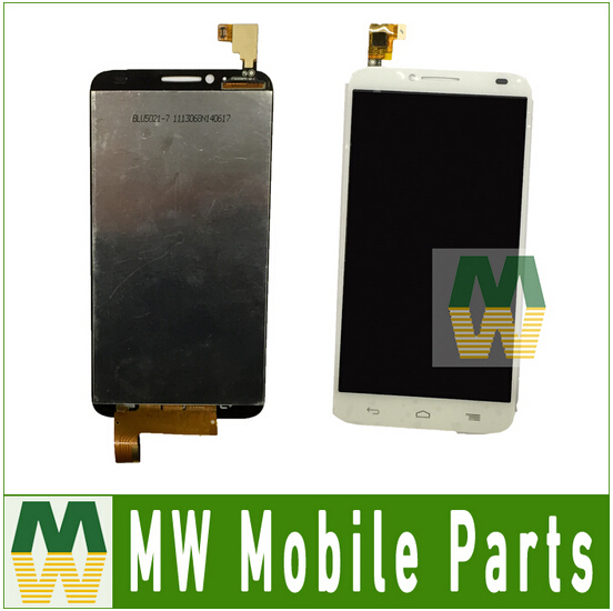 For Alcatel One Touch Idol 2 OT6037 6037 LCD Display+Touch Screen Digitizer Black White Color 5PC / Lot Free DHL EMS