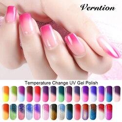 Гель-лаки для ногтей Verntion, 8 мл, замочить от изменения температуры, цвет, Длительное Действие, термо УФ-гель, гибридный гвоздь, Гель-лак для но...