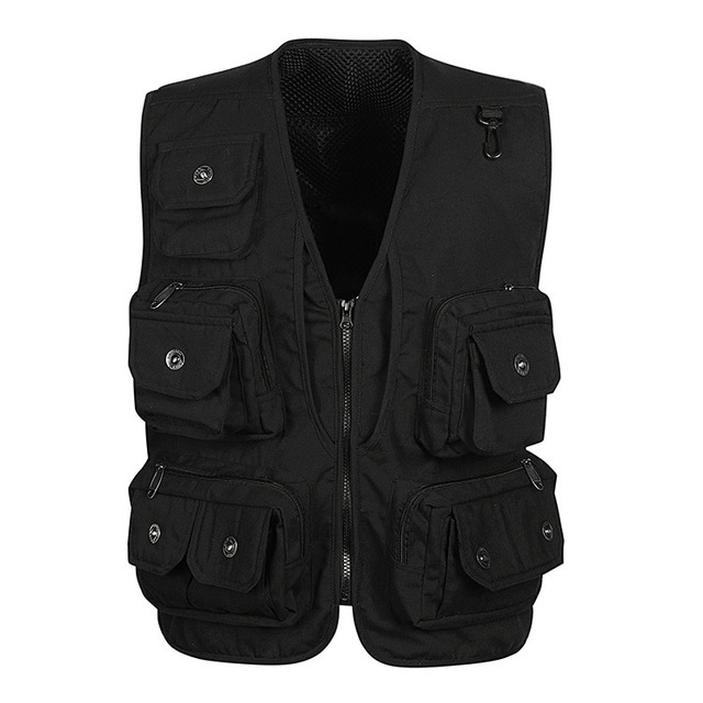 Spring 2016 Multi-Pocket Professional Reporter Vest XXXL Waistcoat Mesh Photography Vest Photography Vest for Men 3 Colors