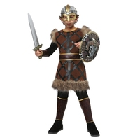 Valiant Halloween Boys Viking Pirate Costume Kids Carnival Raiding Parties Performance Cosplay Clothing