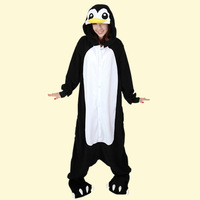 New Adult Unisex Long Black Penguin Halloween Fancy Costumes Pajamas Cosplay Animal Onesies For Adults
