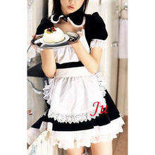 Free Shipping Sexy Sissy Maid Cotton Dress School Uniform Cosplay Costume Tailor-made