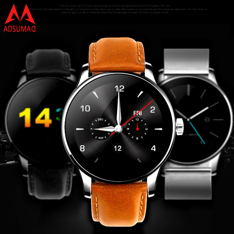 цена на Top Smart Watch K88H Wristwatch MTK2502C Bluetooth Smartwatch Heart Rate Monitor Pedometer Dialing compatiable with IOS android