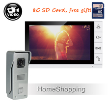 Best price FREE SHIP 9″ Recording Monitor Video Door phone Intercom System + Night Vision Outdoor Camera + 8G SD card IN STOCK