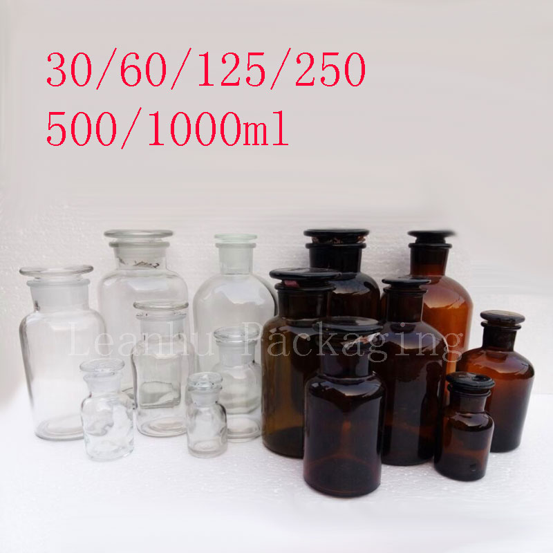 Empty Reagent Glass Bottles <font><b>Alcohol</b></font> Bottle,Experimental Glasswares,DIY Experiment Equipment Packing Container,Auxiliary Tool