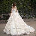 Peru do vintage Lace Vestidos de Casamento 2016 Vestidos de Noiva Sexy Vestidos de Noiva Líbano Cap Sleeve Tribunal Trem Vestido de Noiva de Renda