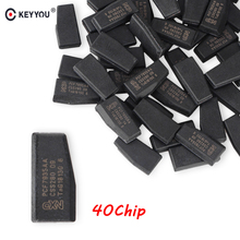 KEYYOU 10x Remote Car Key Chip ID40 Transponder Chip ID 40 Crypto Carbon ID40 Chip For Vauxhall Opel