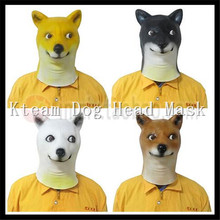 Christmas Party Cosplay Animal Dog Masks Novelty Latex Halloween Custume Party Doggy Head Mask for Adult Theater Prop in stock