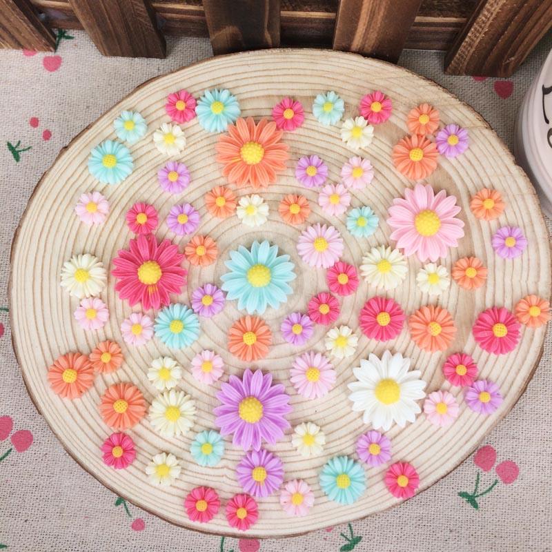 Flatback lapos hát gyanta virág Cabochon Kawaii DIY gyanta kézműves dekoráció mesterséges virág Scrapbooking díszítés varázsa