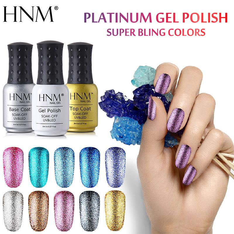 HNM 8ML Glitter UV Gel Nail Polish in 34 colors