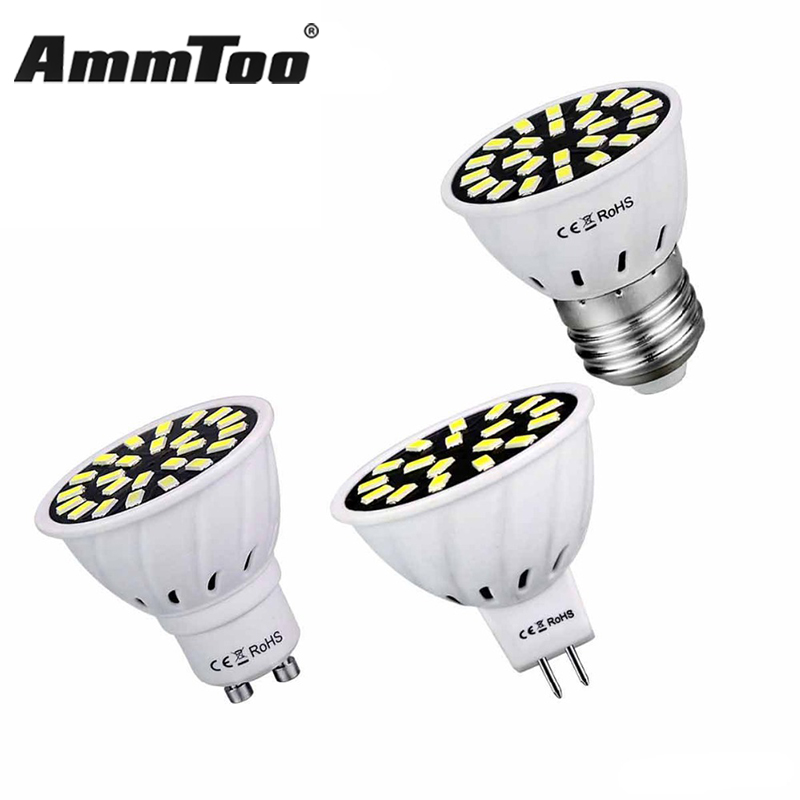 4w 6w 8w lampada led lamp e27 110v smd5733 ampoule led spotlight gu10 bombillas led bulb 120v