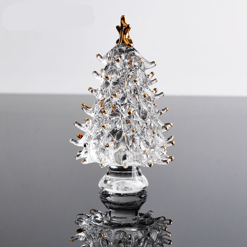 Crystal Christmas Ornaments.Us 4 68 10 Off Crystal Christmas Tree Star Figurines Paperweight Crafts Art Collection Table Car Ornaments Souvenir Home Decor Wedding Gifts In