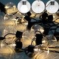 Ao ar livre claro Conectável Festão Globo Bola luz fada string led das Luzes de Natal feericamente Do Partido LED do casamento do jardim guirlanda