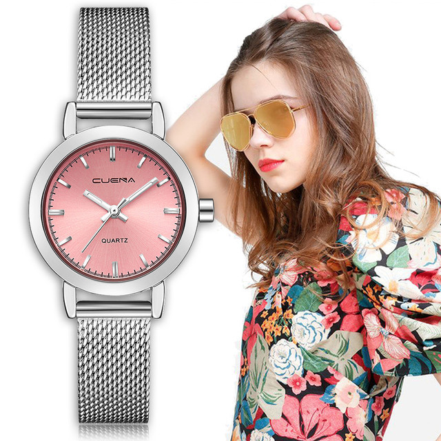 Gofuly 2019 Women Dress Watches Ladies Quartz Watch Stainless Steel Mesh Band Ca