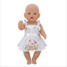 Doll Clothes Born New Baby Fit 17 inch 43cm Doll One-piece garment Owl Little White Rabbit Nightgown  Accessories For Baby Gift maxcity baby little rabbit