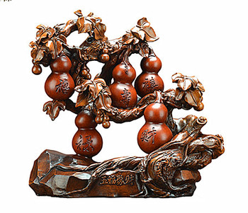 Resin home inspired gourd handicraft decoration housemoved new residence opening gift factory wholesale
