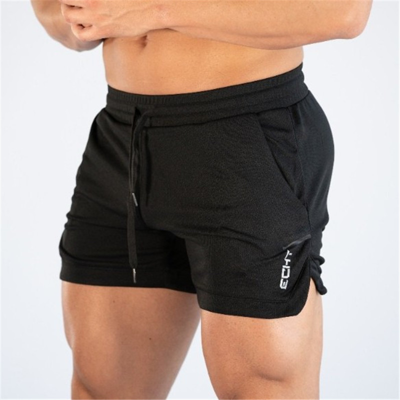 2019 Summer New Black Shorts Mens Fitness Bodybuilding Breathable Quick Drying Gyms Men Casual Joggers High Quality Shorts