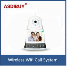 Wireless Alarm IP Camera with Screen Keyboard P2P Phone Video Call IP Camera Wifi Home Security Surveillance Baby Camera