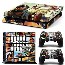 New Grand Theft Auto 5 PS4 Console Skin Stickers Cover For Sony Playstation 4 + 2 Controllers Sticker