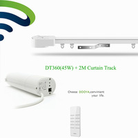 Ewelink Broadlink DNA Intelligient Dooya DT360e Wifi Motor Electric Curtain 2M Aluminum Curtain Rail Track Phone
