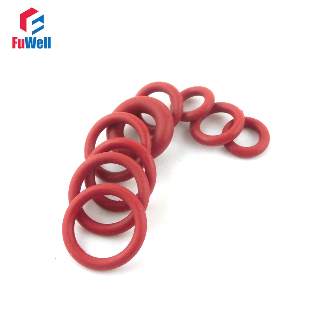 500pcs Red Silicon Rubber O-ring Seals 1.5mm Thickness 4.5/5/5.5/6/6.5/7/7.5/8/8.5/9mm OD O Rings Sealing Gasket Washer 500pcs 0805 7m5 7 5m ohm 5