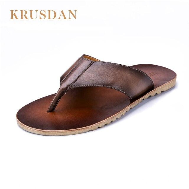 795ed61dd074 Comprar mens leather flip flop sandals   OFF31% Descuentos