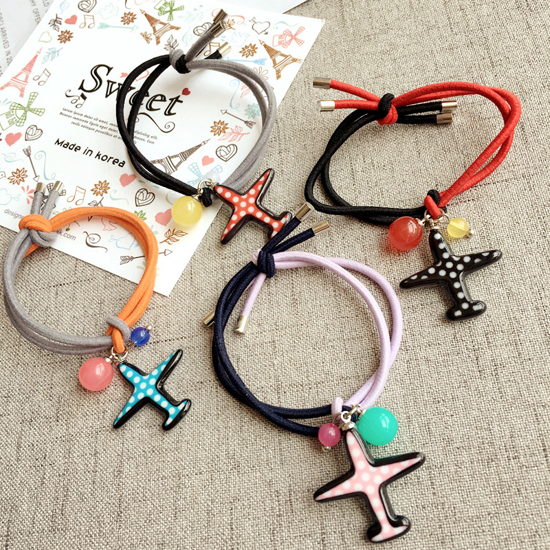 Korea Hair Accessories Aircraft Modeling Hair Ring Rubber  Headband - Apparel Accessories - Photo 4