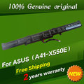 Free shipping A41-X550E Original laptop Battery For Asus A450E A450J A450JF F550D K751L X450 X450E X450J X450JF X550DP X750LN