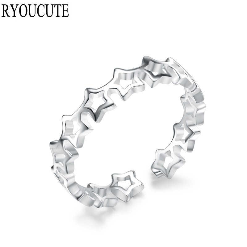 Корейские новые кольца из стерлингового серебра 925 пробы для женщин регулируемое кольцо модные свадебные ювелирные изделия anillos Mujer