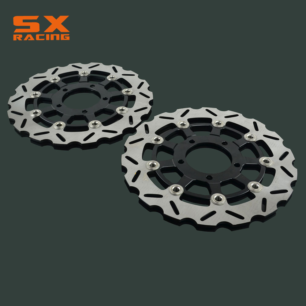 Motorcycle 300mm Front Floating Brake Disc Rotor 2 PCS For KAWASAKI NINJA ZX6R 600 636 Z750 Z700 ZX-10R ER6N Z750 ABS цена