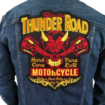 Thunder Road Embroidered Biker Patches
