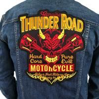 Thunder drogowego Wyszywana Aplikacja Szycie Label punk biker Łaty Żelazo Na Łacie Naklejki Odzież Odzież Akcesoria Odznaka