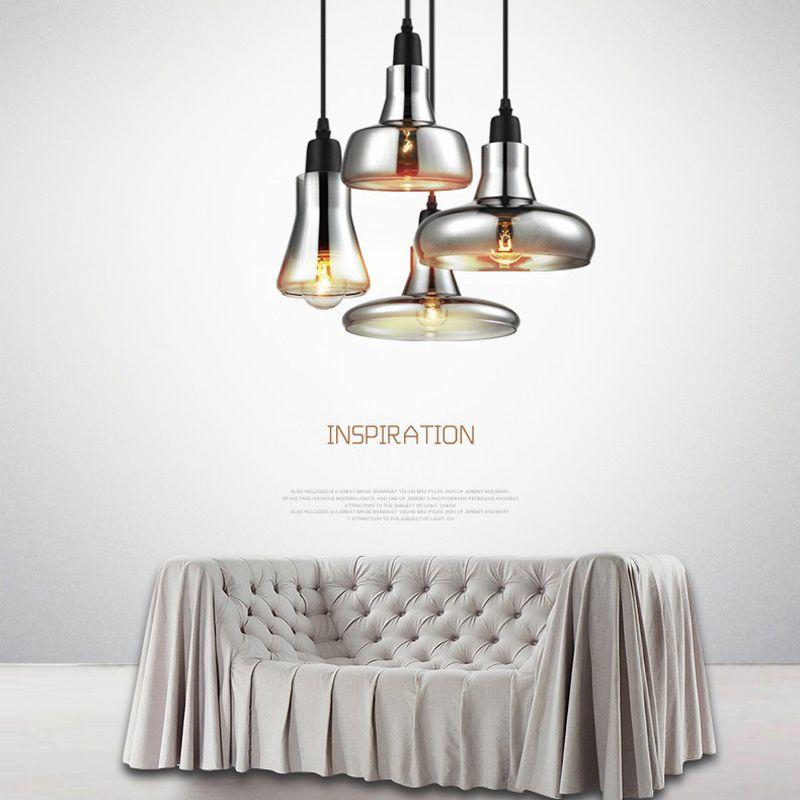 LukLoy Glass Pendant Lights LED Kitchen Lights LED Lamp Bedside Hanging Lamp Ceiling Lamps Lighting Fixtures Bedroom Living Room