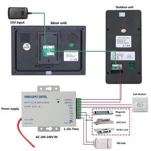 Image 5 - Intercomunicador con huella dactilar RFIC para puerta, 7 pulgadas, inalámbrico/con cable, Wifi, contraseña, vídeo, 1000TVL, cámara, desbloqueo, registro