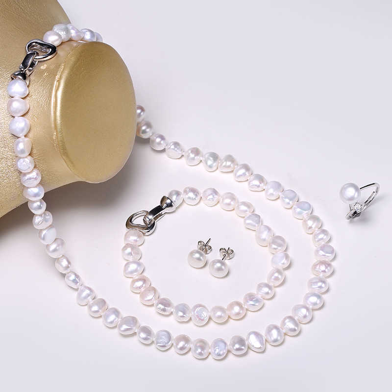 DAIMI Jewelry Sets Natural Baroque Pearl Sets Pearls Jewlery Woman Necessity Can be Long Necklace Party Jewelry Set Fine Jewelry