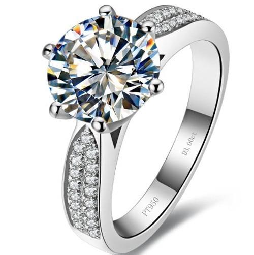 super deluxe 18karat white gold fabulous starlight style ring 3 carat synthetic diamonds wedding ring man