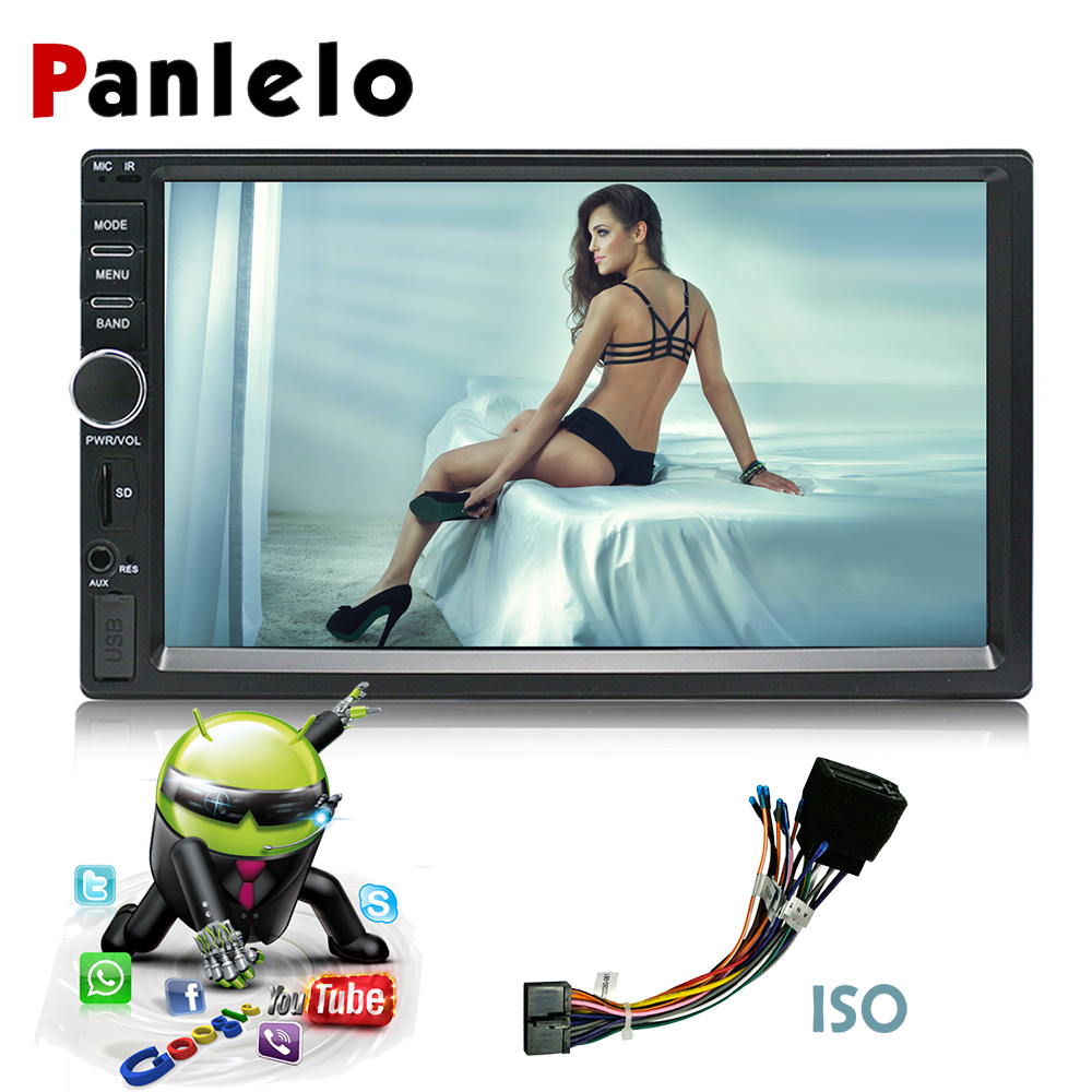 2 Din 7'' Touch Screen Android Car Radio Stereo Blutooth Wifi AM/FM Radio Video Player GPS Navigation Car Styling Autoradio +ISO kkmoon 2 din hd touch screen car stereo radio player gps navigation multimedia entertainment system wifi bt am fm android 5 1