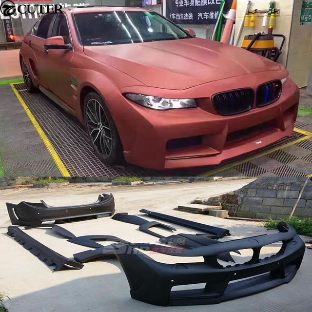 f10 f18 5 series hm style wide body kit front bumper rear bumper