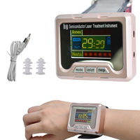 Laser Therapy LLLT Watch fit for Rhinitis Diabetes Cholesterol Hypertension Cerebral Thrombosis 650nm diode Physiotherapy Device