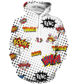 Pow Boom Bang Prints Hoodie Sweatshirt Men Women Hipster Hip Hop Hooded Sweatshirts Point Wave 3D Hoodies Pullovers