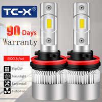 Diodo LED del faro H7 H4 H3 luce 4 ha condotto la lampada della lampadina 9005 9006 HB3 Tumanki led luces Per polo berlina /daewoo lanos/t5 trasporter 12 v
